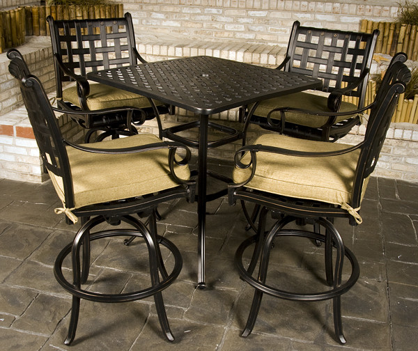 Best ideas about Bar Height Patio Furniture . Save or Pin Chateau Bar Height Outdoor Patio Furniture Set Now.