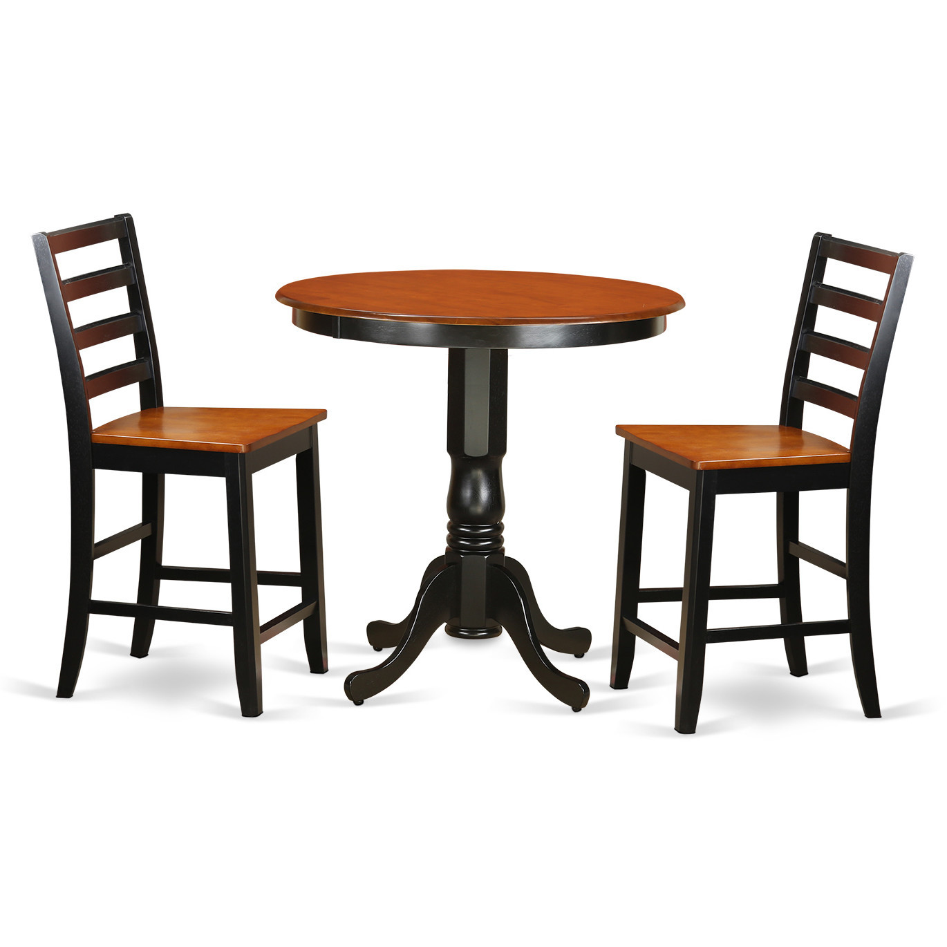 Best ideas about Bar Table And Chairs . Save or Pin Wooden Importers Jackson 3 Piece Counter Height Pub Table Now.