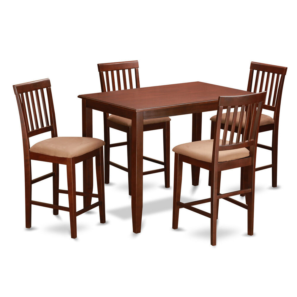 Best ideas about Bar Table And Chairs . Save or Pin Mahogany Pub Table and 4 Kitchen Chairs 5 piece Dining Set Now.