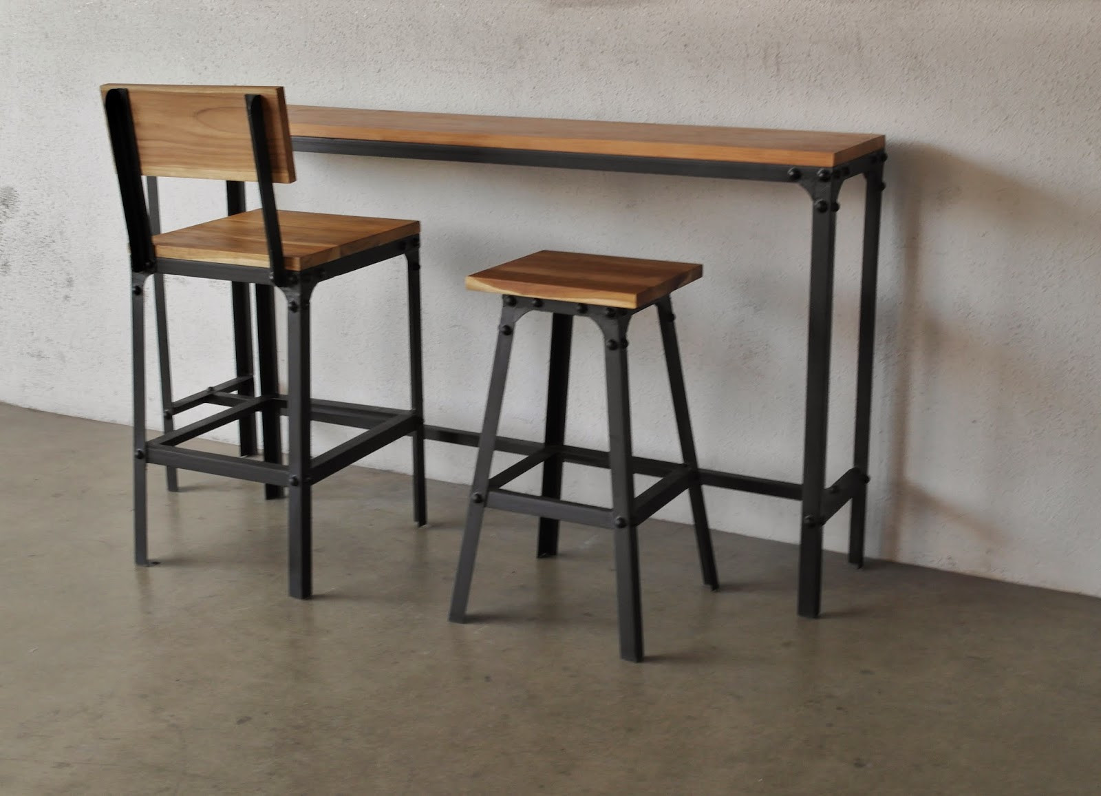 Best ideas about Bar Table And Chairs . Save or Pin INDUSTRIAL FURNITURE AS TRENDY AS MIDCENTURY MODERN Now.