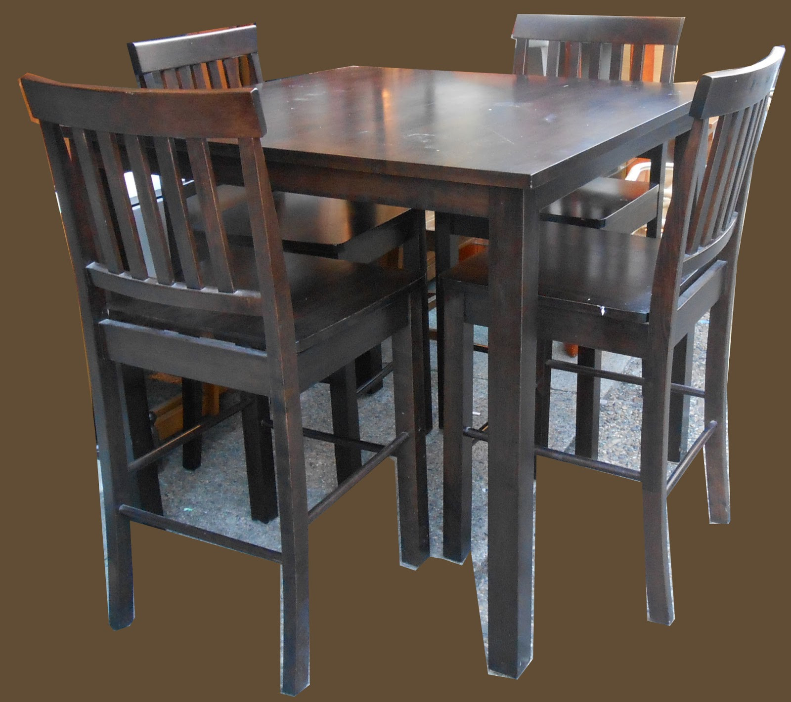 Best ideas about Bar Table And Chairs . Save or Pin Uhuru Furniture & Collectibles Pub Table and 4 Chairs SOLD Now.