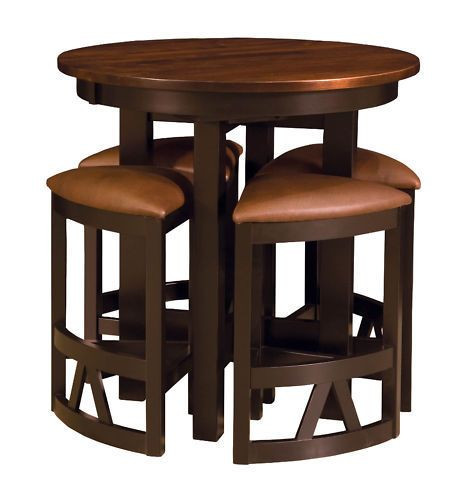 Best ideas about Bar Table And Chairs . Save or Pin Details about Amish Pub Table Chairs Set Bar Height High Now.