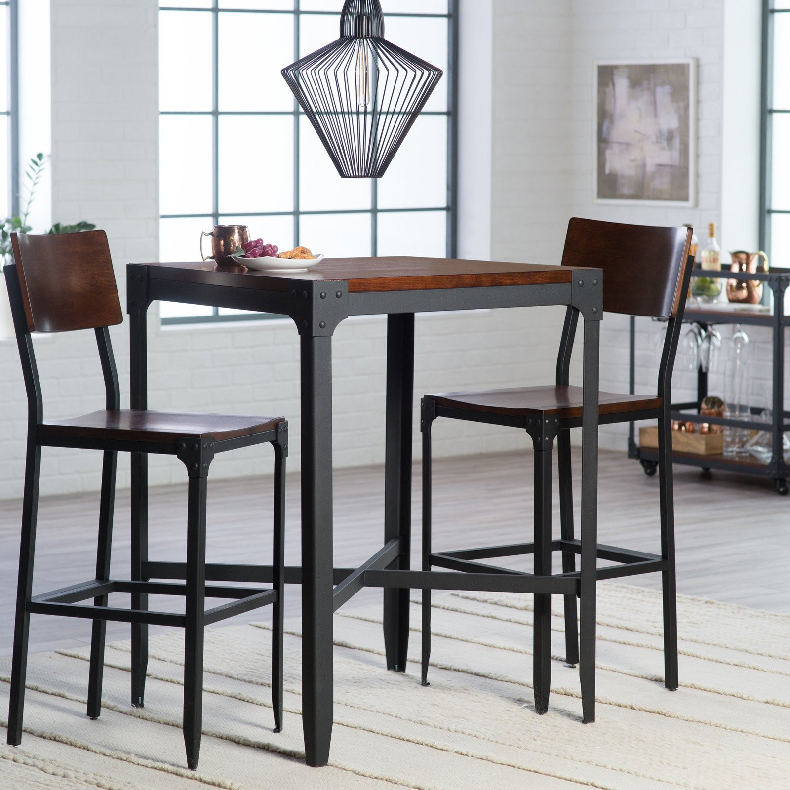 Best ideas about Bar Table And Chairs . Save or Pin Belham Living Trenton 3 Piece Pub Table Set Bar & Pub Now.