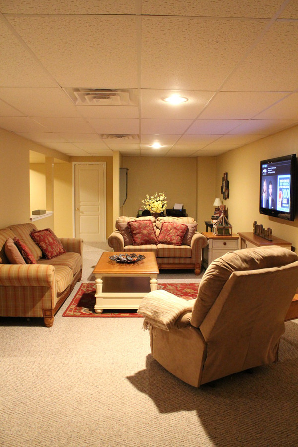 Best ideas about Basement Family Room Ideas . Save or Pin basement family room with tv stand Now.