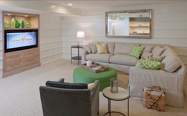Best ideas about Basement Family Room Ideas . Save or Pin House Tour 10 shots of lovely Cozy Michigan Cottage Now.