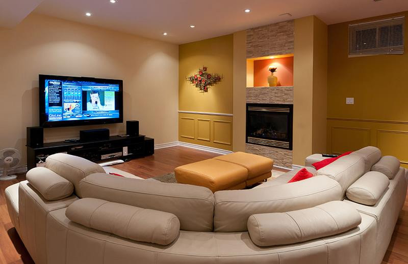 Best ideas about Basement Family Room Ideas . Save or Pin 23 Amazing Finished Basement Theaters for Movie Time Now.