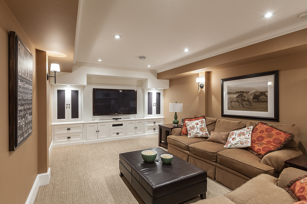 Best ideas about Basement Family Room Ideas . Save or Pin Decorating A Small Basement Family Room With Brown L Now.
