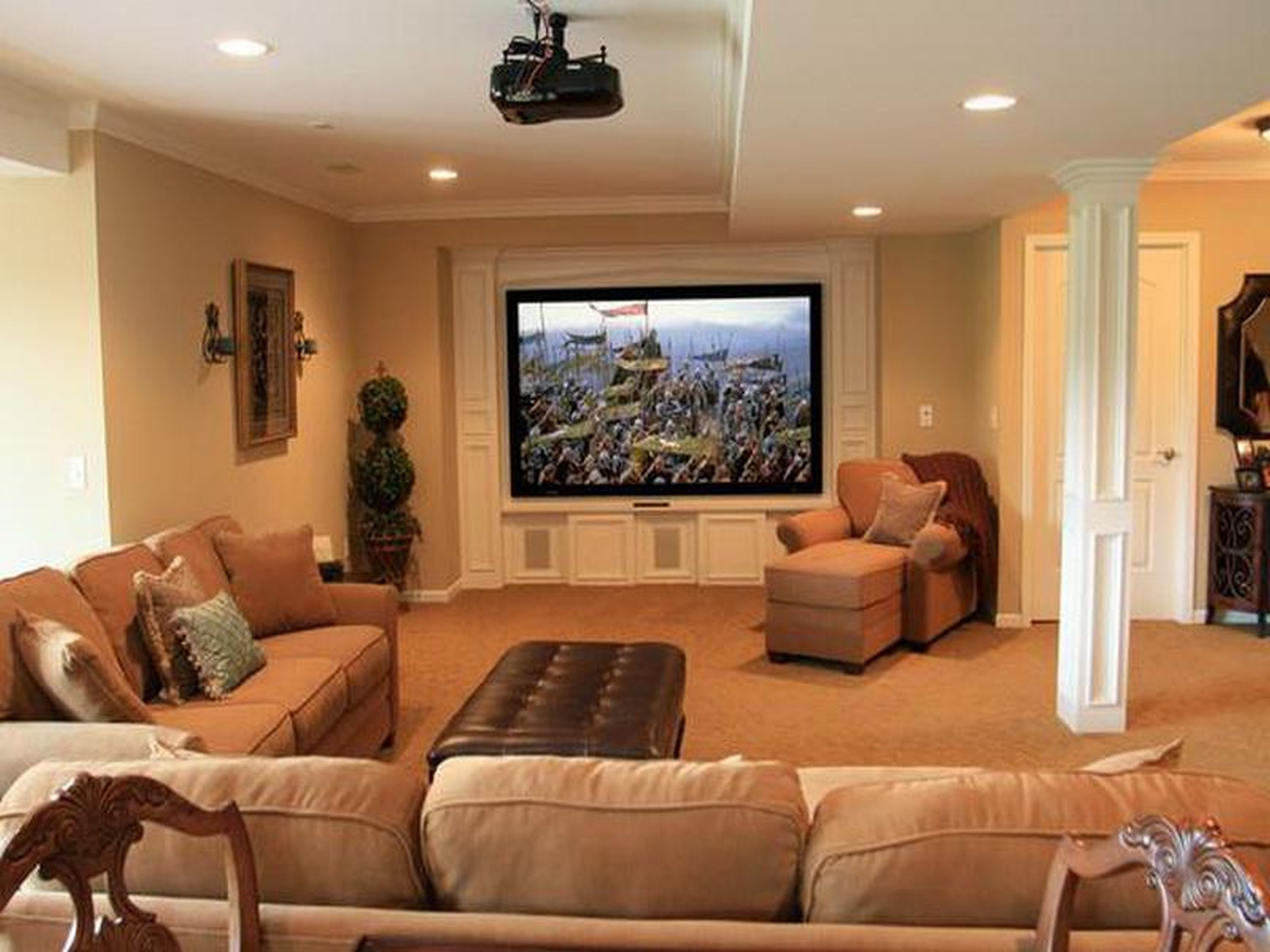 Best ideas about Basement Family Room Ideas . Save or Pin Finished Basement Ideas with Proper Furnishing worth to Now.
