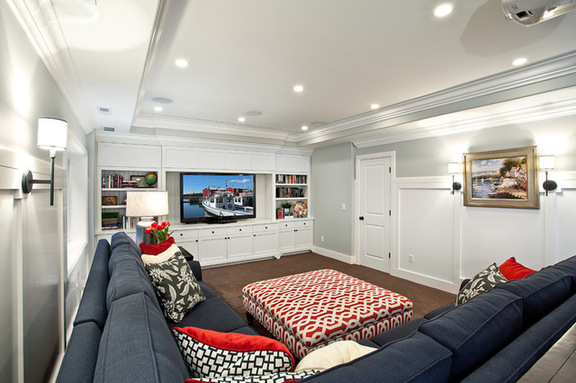 Best ideas about Basement Family Rooms Ideas . Save or Pin Basement Modern Family Room Salt Lake City by Now.
