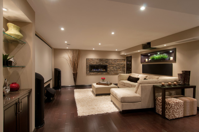 Best ideas about Basement Family Rooms Ideas . Save or Pin Multipurpose Basement Contemporary Family Room Now.