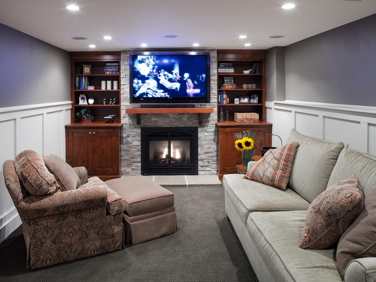 Best ideas about Basement Family Rooms Ideas . Save or Pin Basement Living Room Ideas Homeideasblog Now.