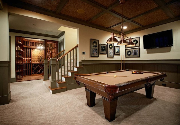 Best ideas about Basement Game Room . Save or Pin Basement Game Room Contemporary basement Alice Lane Home Now.
