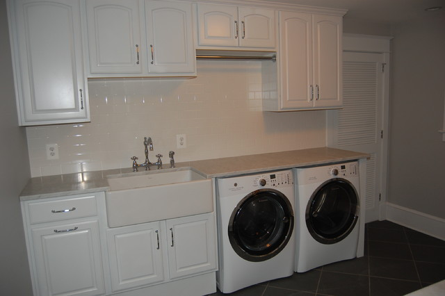 Best ideas about Basement Laundry Rooms . Save or Pin Finished Basement Laundry Room Traditional Laundry Now.