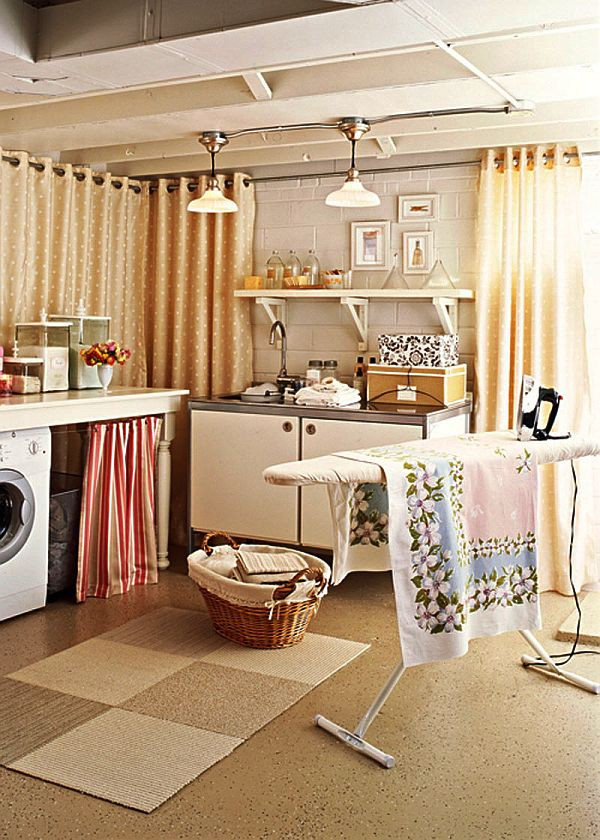 Best ideas about Basement Laundry Rooms . Save or Pin Laundry Room Storage Solutions for Small Rooms Furniture Now.