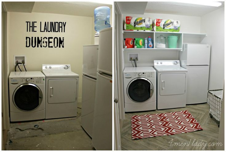 Best ideas about Basement Laundry Rooms . Save or Pin Laundry Room Makeover and Start Clean in 14 4 Men 1 Now.