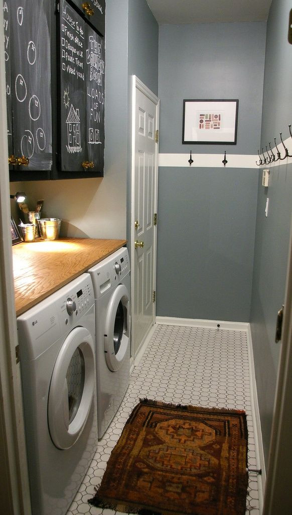 Best ideas about Basement Laundry Rooms . Save or Pin DREAM laundry room Chalkboard cabinets for notes table Now.
