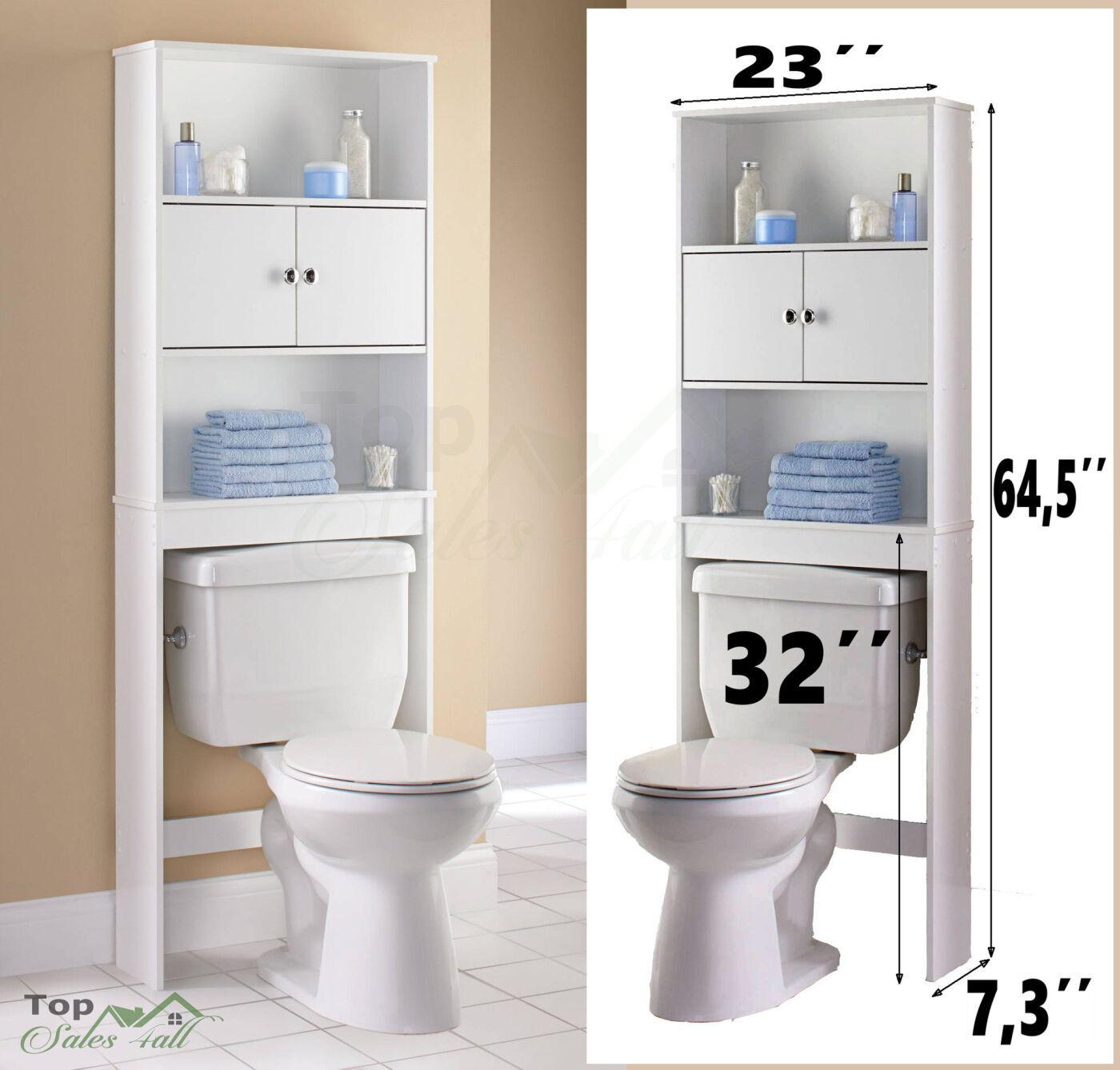 Best ideas about Bathroom Cabinet Storage . Save or Pin Bathroom Storage Cabinet Tall Linen Towel Organizer Wood Now.