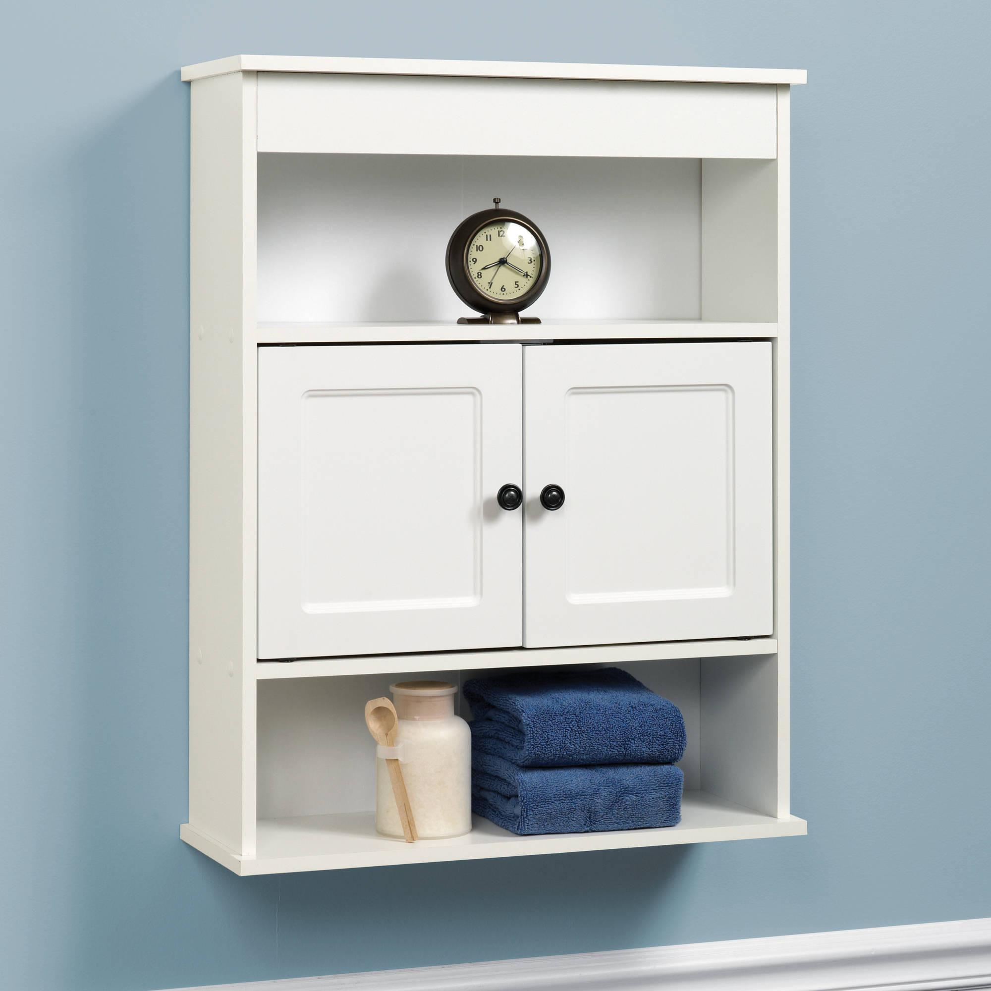 Best ideas about Bathroom Cabinet Storage . Save or Pin Cabinet Wall Bathroom Storage White Shelf Organizer Over Now.