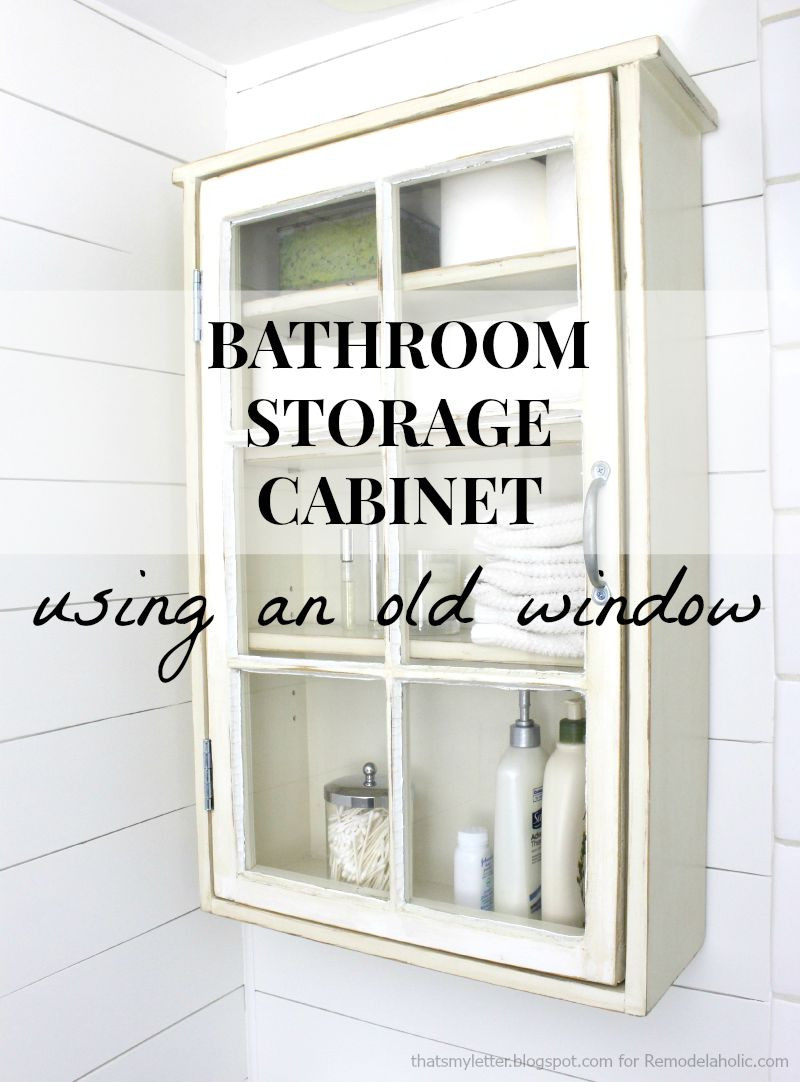 Best ideas about Bathroom Cabinet Storage . Save or Pin Remodelaholic Now.