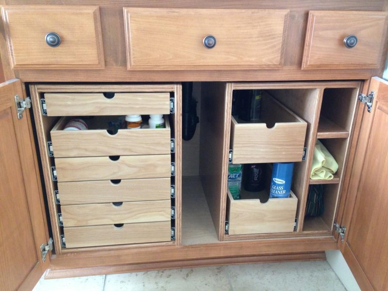 Best ideas about Bathroom Cabinet Storage . Save or Pin Bathroom vanity organizer bathroom tray organizer vanity Now.