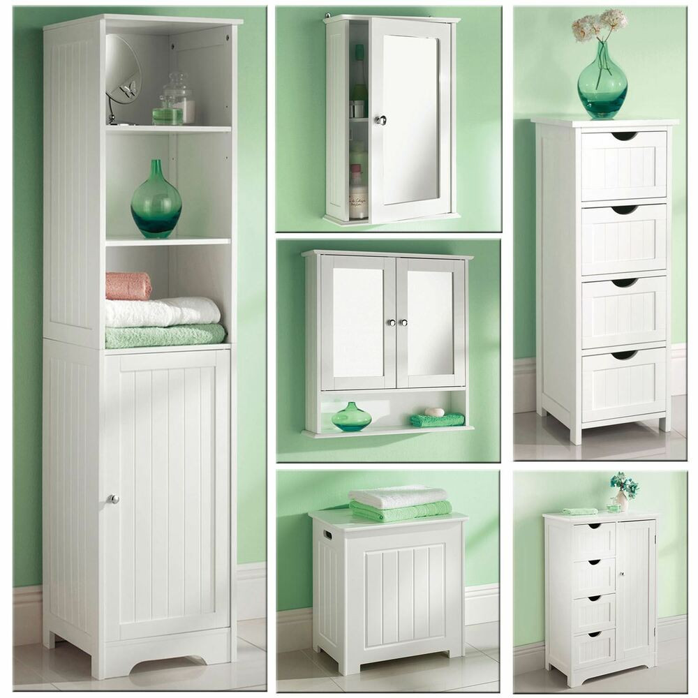Best ideas about Bathroom Cabinet Storage . Save or Pin White Wooden Bathroom Cabinet Shelf Cupboard Bedroom Now.