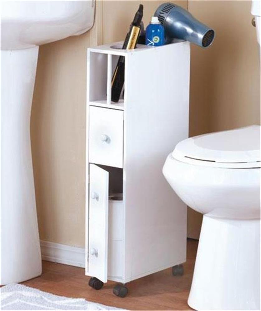 Best ideas about Bathroom Cabinet Storage . Save or Pin SLIM SPACE SAVING ROLLING BATHROOM STORAGE ORGANIZER Now.