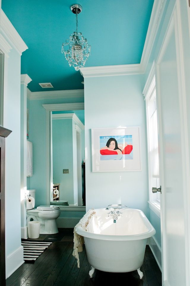 Best ideas about Bathroom Ceiling Paint . Save or Pin Benjamin Moore Peacock Blue Bathroom Ceiling Paint Now.