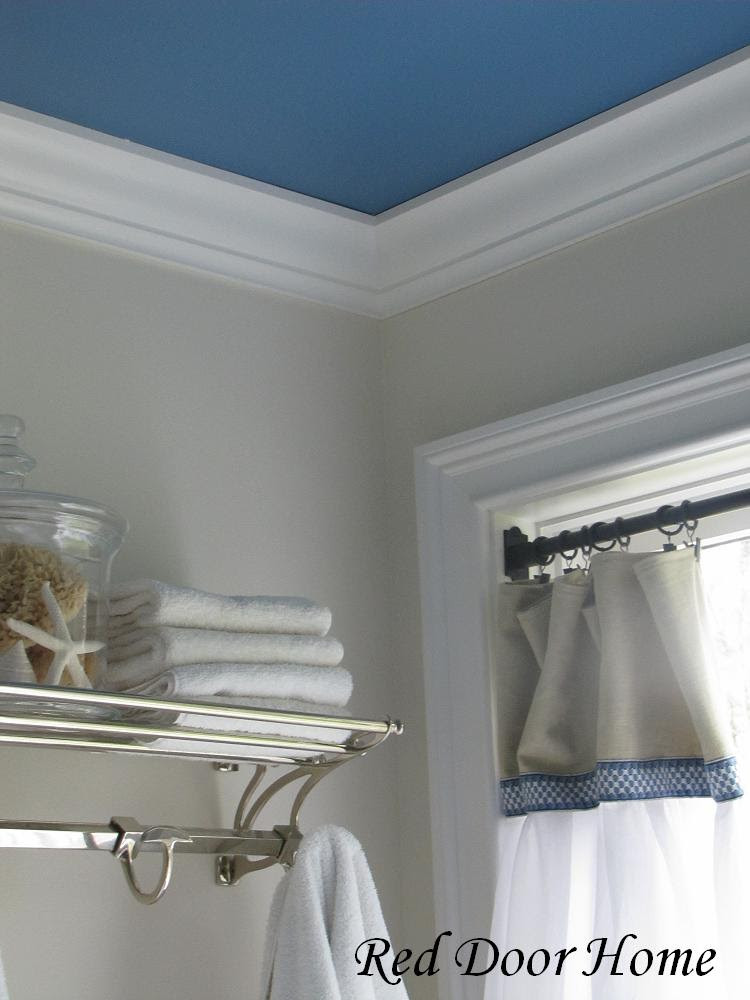 Best ideas about Bathroom Ceiling Paint . Save or Pin Red Door Home Two Simple Ideas to Add Character to Your Now.
