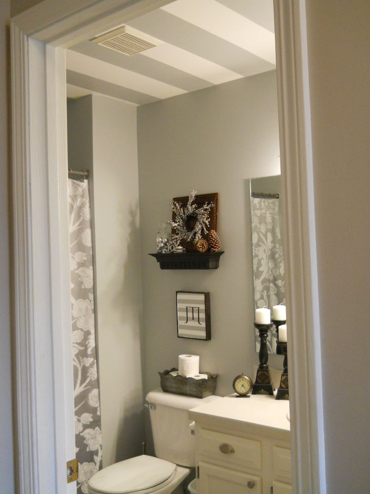 Best ideas about Bathroom Ceiling Paint . Save or Pin Striped bathroom ceiling Now.
