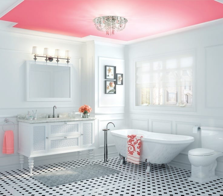 Best ideas about Bathroom Ceiling Paint . Save or Pin Look Up Statement Ceilings Now.
