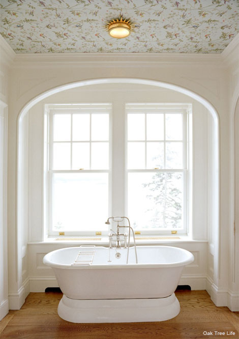 Best ideas about Bathroom Ceiling Paint . Save or Pin Wall Papered and Painted Ceilings Now.