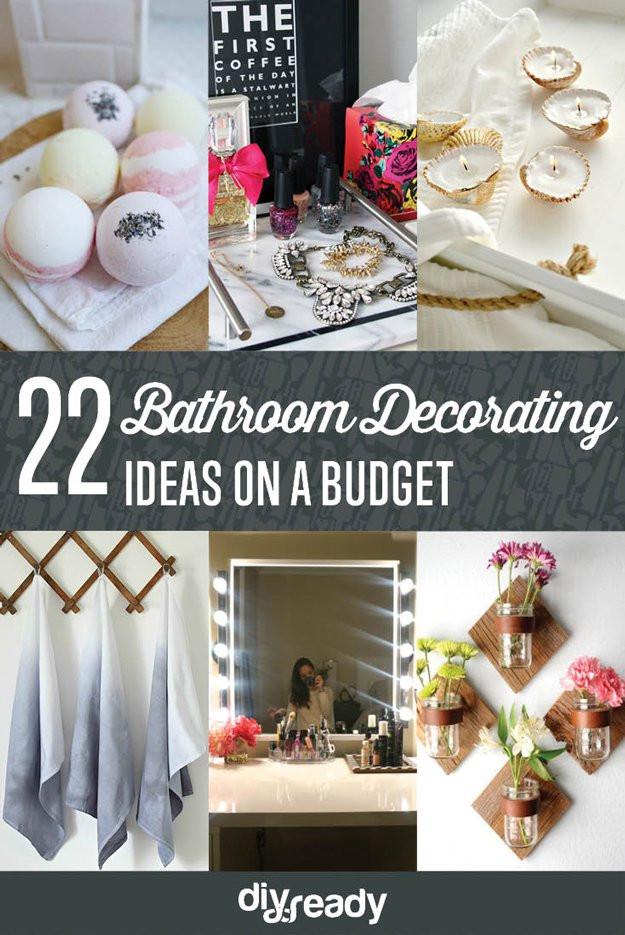 Best ideas about Bathroom Decorating Ideas DIY . Save or Pin Bathroom Decorating Ideas on a Bud DIY Ready Now.