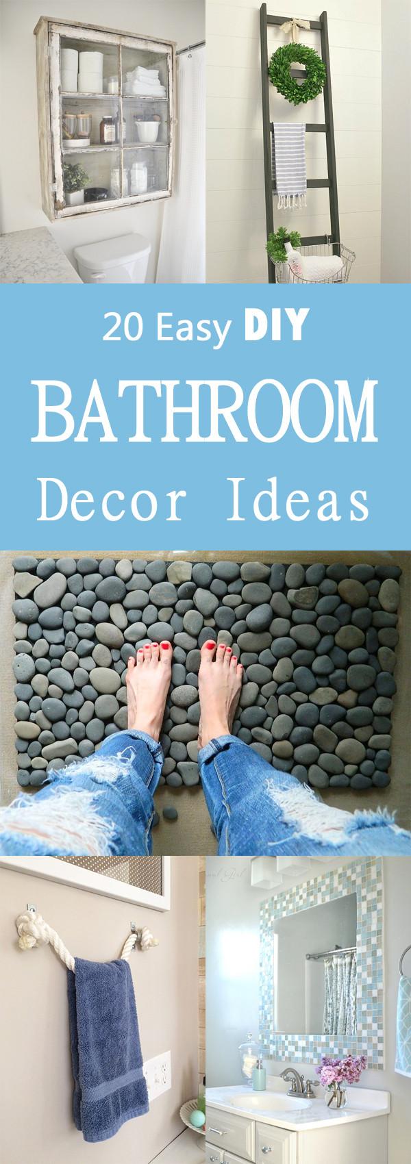 Best ideas about Bathroom Decorating Ideas DIY . Save or Pin 20 Easy DIY Bathroom Decor Ideas Now.