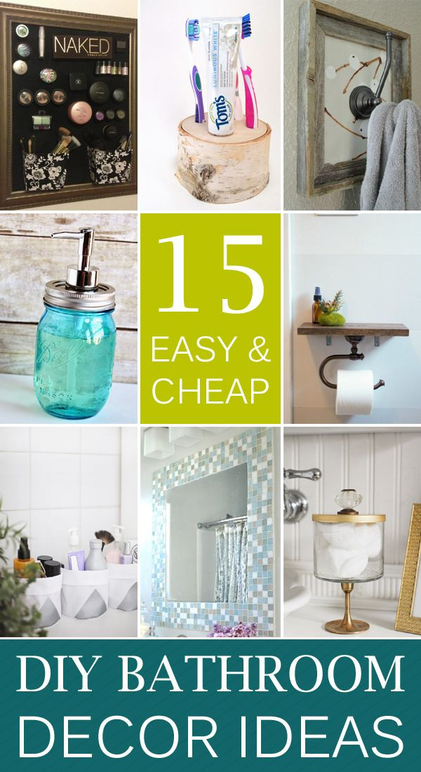 Best ideas about Bathroom Decorating Ideas DIY . Save or Pin 44 best images about DIY Home Decor Ideas on Pinterest Now.