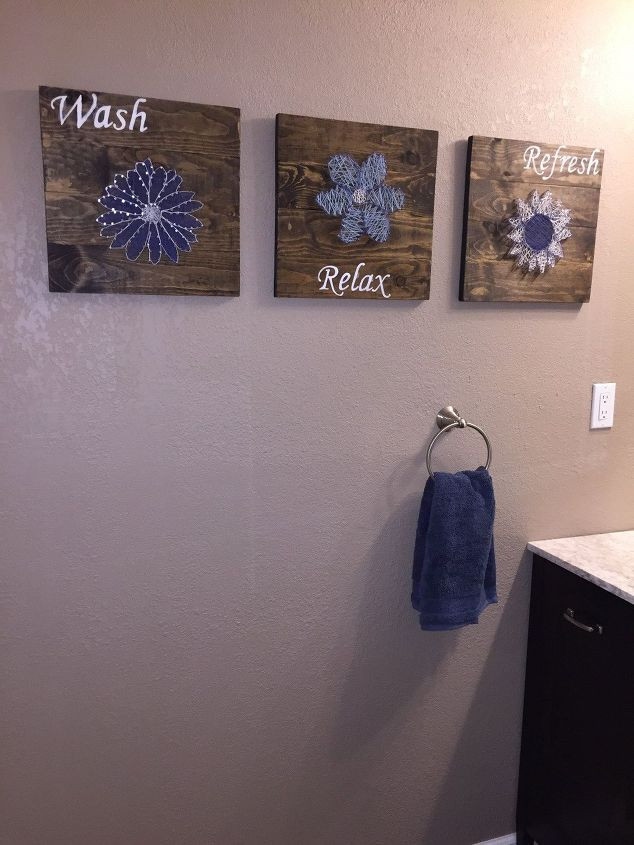 Best ideas about Bathroom Decorating Ideas DIY . Save or Pin DIY Bathroom Wall Art String Art to Add a Pop of Color Now.