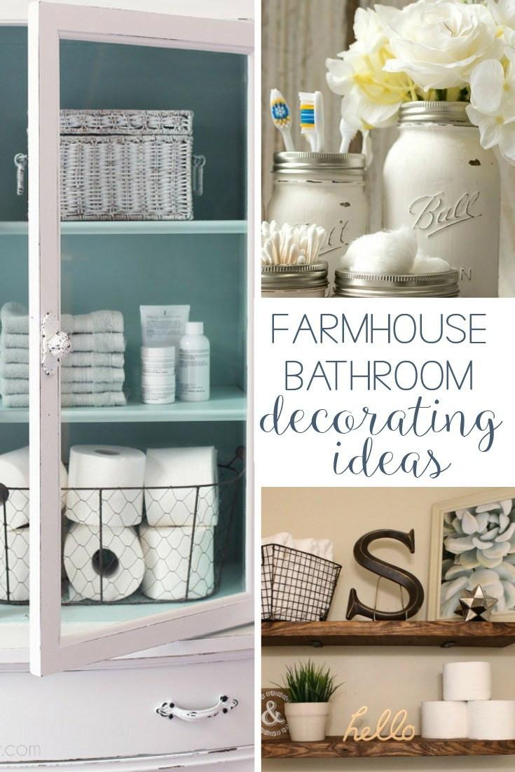 Best ideas about Bathroom Decorating Ideas DIY . Save or Pin 19 Amazing DIY Farmhouse Bathroom Decorating Ideas Now.
