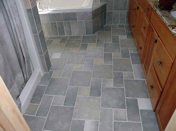 Best ideas about Bathroom Floor Tile Ideas . Save or Pin 35 blue gray bathroom tile ideas and pictures Now.