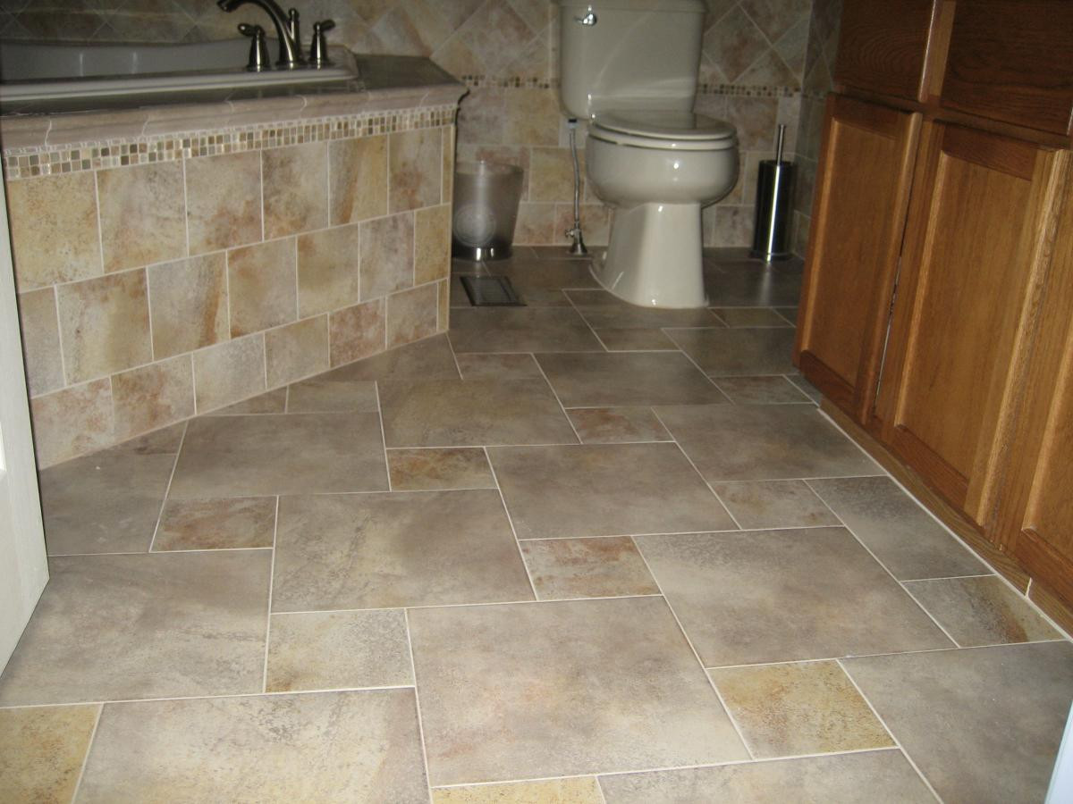 Best ideas about Bathroom Floor Tile Ideas . Save or Pin Floor Tile Patterns to Improve Home Interior Look Traba Now.