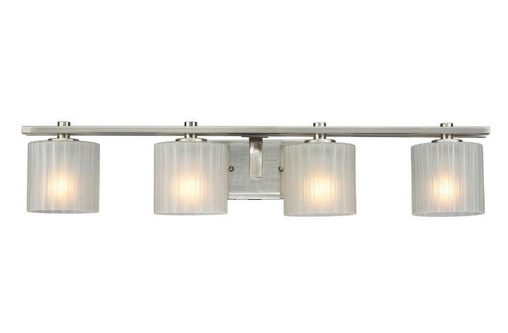 Best ideas about Bathroom Light Bar . Save or Pin Hampton Bay Sheldon 4 Light Brushed Nickel Bath Bar Light Now.