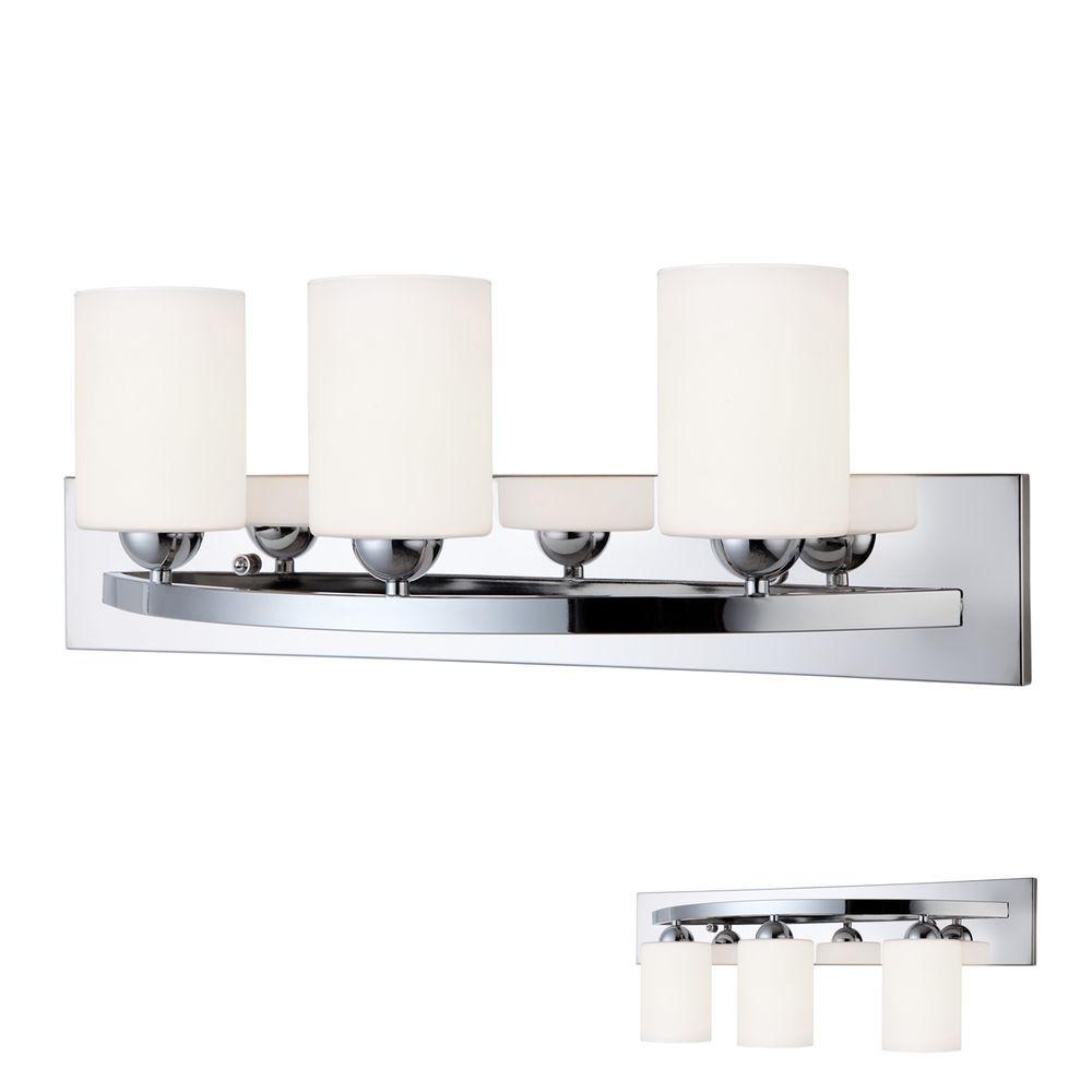 Best ideas about Bathroom Light Bar . Save or Pin Chrome 3 Bulb Bath Vanity Light Bar Fixture Interior Now.