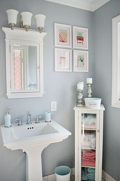Best ideas about Bathroom Paint Color Ideas . Save or Pin 25 best ideas about Powder room decor on Pinterest Now.