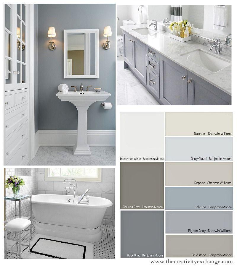 Best ideas about Bathroom Paint Color Ideas . Save or Pin Bathroom Color Schemes on Pinterest Now.