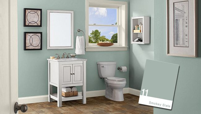 Best ideas about Bathroom Paint Color Ideas . Save or Pin Behr Smokey Slate Paint your walls Pinterest Now.