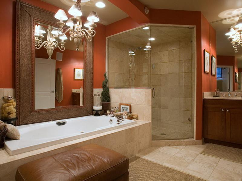 Best ideas about Bathroom Paint Color Ideas . Save or Pin Bloombety Red Paint Color For A Small Bathroom Design Now.
