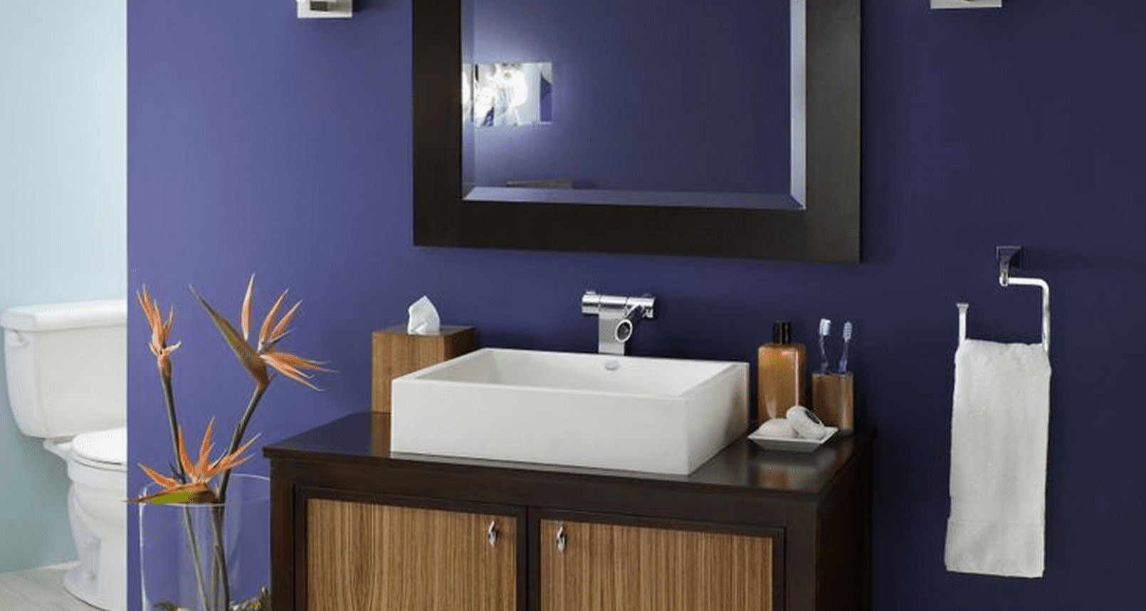Best ideas about Bathroom Paint Color Ideas . Save or Pin The Best Paint Colors for a Small Bathroom Now.