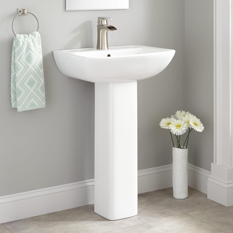 Best ideas about Bathroom Pedestal Sink . Save or Pin Kerr Porcelain Pedestal Sink Bathroom Now.