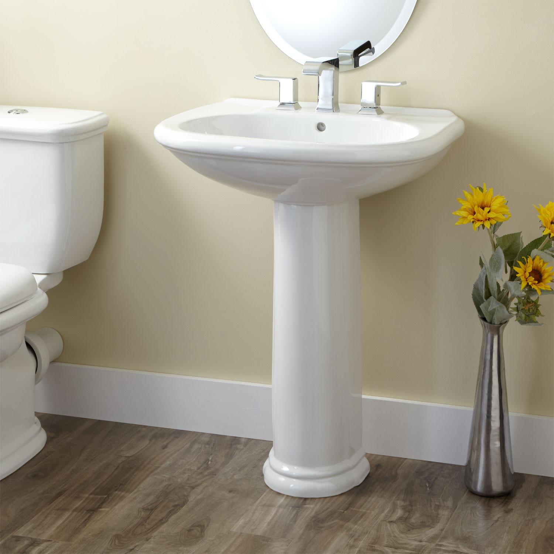 Best ideas about Bathroom Pedestal Sink . Save or Pin Kennard Porcelain Pedestal Sink Bathroom Sinks Bathroom Now.
