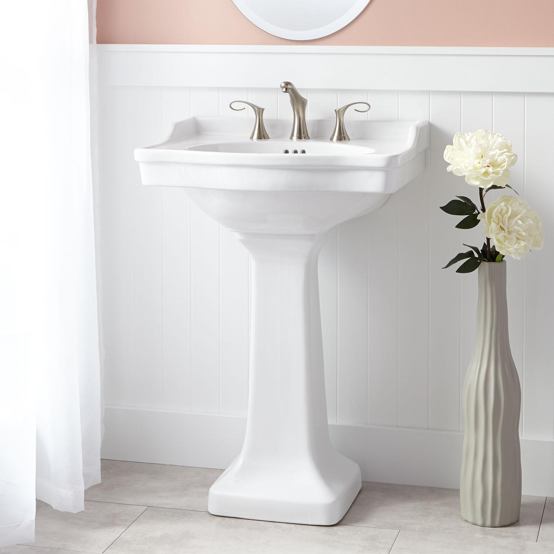 Best ideas about Bathroom Pedestal Sink . Save or Pin Cierra Porcelain Pedestal Sink Bathroom Now.