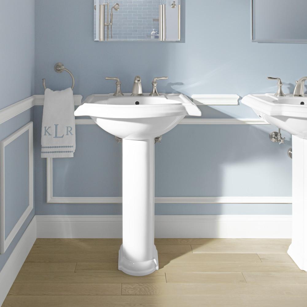 """Best ideas about Bathroom Pedestal Sink . Save or Pin Kohler Devonshire 24"""" Pedestal Bathroom Sink & Reviews Now."""