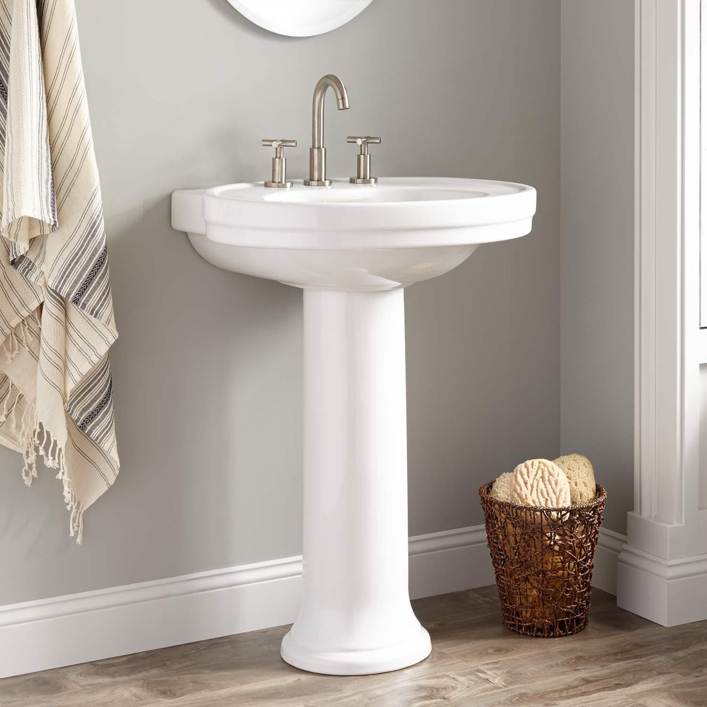 Best ideas about Bathroom Pedestal Sink . Save or Pin Cruzatte Porcelain Pedestal Sink Pedestal Sinks Now.